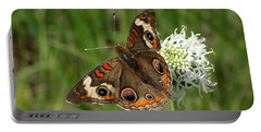 Common Buckeye Butterfly On Wildflower Portable Battery Charger