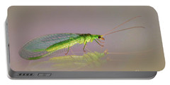 Common Green Lacewing - Chrysoperla Carnea Portable Battery Charger