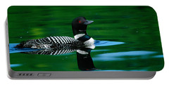 Common Loon In Water, Michigan, Usa Portable Battery Charger