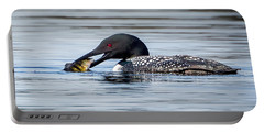 Common Loon Square Portable Battery Charger by Bill Wakeley