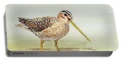 Common Snipe Wading Portable Battery Charger by Thom Glace