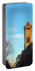 Commonwealth Avenue In Boston Portable Battery Charger
