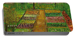 Community Garden Portable Battery Charger by Mike Caitham