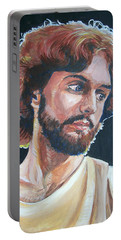 Portable Battery Charger featuring the painting Compassionate Christ by Bryan Bustard