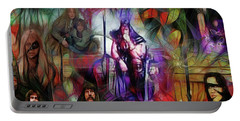 Conan The Barbarian Collage - Square Version Portable Battery Charger