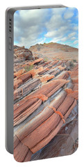 Concentric Circles Of Sandstone At Valley Of Fire Portable Battery Charger