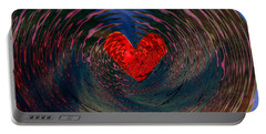 Portable Battery Charger featuring the digital art Concentric Love by Linda Sannuti