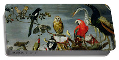 Concert Of Birds Portable Battery Charger by Frans Snijders