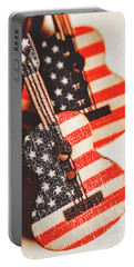 Concert Of Stars And Stripes Portable Battery Charger