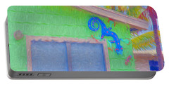 Conch Key Lizard Wall Art Portable Battery Charger
