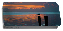 Conch Key Sunset Bird On Piling Portable Battery Charger