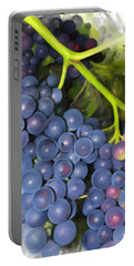 Portable Battery Charger featuring the painting Concord Grape by Ivana Westin