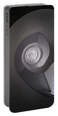 Portable Battery Charger featuring the photograph Concrete Abstract Spiral Staircase by Jaroslaw Blaminsky