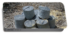 Concrete Rolls Portable Battery Charger by Suhas Tavkar