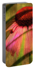 Cone Flower And The Ladybug Portable Battery Charger