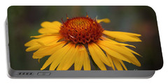Cone Flower Portable Battery Charger by John Roberts