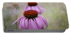 Coneflower Dream Portable Battery Charger by Nina Silver