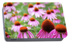 Portable Battery Charger featuring the photograph Coneflowers by David Chandler