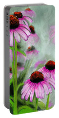 Coneflowers In The Mist Portable Battery Charger