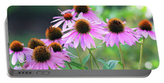 Portable Battery Charger featuring the photograph Coneflowers by Trina Ansel