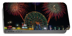 Coney Island At Night Fantasy Portable Battery Charger