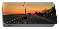 Coney Island Boardwalk Sunset Portable Battery Charger