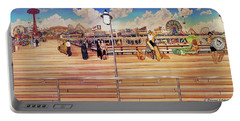 Coney Island Boardwalk Towel Version Portable Battery Charger