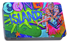 Portable Battery Charger featuring the photograph Coney Island Fun by Joan Reese