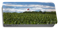Confederate Flag In Tobacco Field Portable Battery Charger