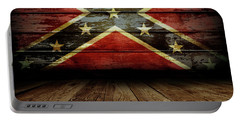 Confederate Flag On Wall Portable Battery Charger