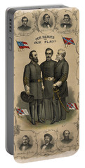 Confederate Generals Of The Civil War Portable Battery Charger by War Is Hell Store