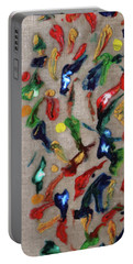 Portable Battery Charger featuring the painting Confetti by Deborah Boyd