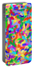Portable Battery Charger featuring the painting Confetti by Denise Fulmer