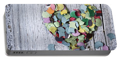 Confetti Heart Portable Battery Charger