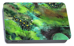 Portable Battery Charger featuring the painting Connect by Anil Nene
