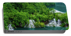 Connected By Waterfalls - Plitvice Lakes National Park, Croatia Portable Battery Charger