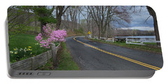 Portable Battery Charger featuring the photograph Connecticut Country Road by Bill Wakeley