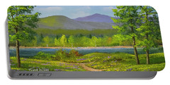 Portable Battery Charger featuring the painting Connecticut River Spring by Frank Wilson