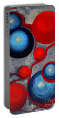 Portable Battery Charger featuring the painting Connections by Holly Carmichael