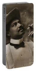 Portable Battery Charger featuring the photograph Connoisseur 1899 by Padre Art