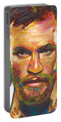Portable Battery Charger featuring the painting Conor Mcgregor by Robert Phelps