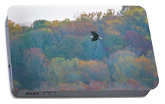 Portable Battery Charger featuring the photograph Conowingo Colors With Bald Eagle by Jeff at JSJ Photography