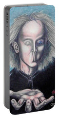 Portable Battery Charger featuring the drawing Consciousness by Michael  TMAD Finney
