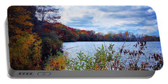 Conservation Park And Pine River In The Fall Portable Battery Charger