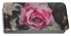 Portable Battery Charger featuring the photograph Constellation Rose by Toni Hopper