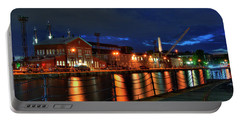 Portable Battery Charger featuring the photograph Constitution Marina - Boston Navy Yard by Joann Vitali