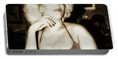 Portable Battery Charger featuring the photograph Consuela Del Rio. Drag Mother At The by Mr Photojimsf