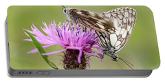 Contact - Butterflies On The Bloom Portable Battery Charger by Michal Boubin