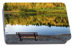 Portable Battery Charger featuring the photograph Contemplating The Colors Of A Colorado Autumn by John De Bord