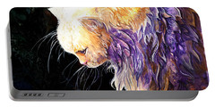 Portable Battery Charger featuring the painting Contemplation by Sherry Shipley